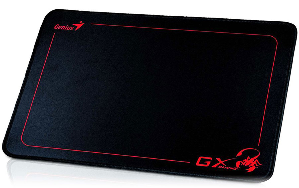 Genius GX-Control P100, Black игровой коврик для мышиGX-Control P100Игровой коврик Genius GX-Control P100 текстурированная ткань, Размер коврика: 355 х 254 мм с толщиной 3mm