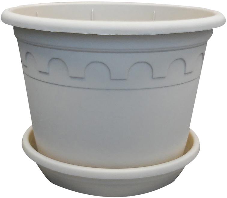 Горшок для цветов Soparco Roma, с блюдцем, цвет: песок, 1,5 л18014671Прекрасное решение для выращивания растений в домах, квартирах и офисах. Разная высота дренажных отверстий на дне горшка позволяет стекать лишней воде в блюдце, при этом через нижние отверстия почва увлажняется, защищая растения от пересыхания.