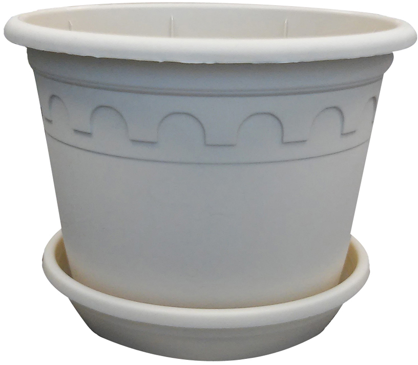 Горшок для цветов Soparco Roma, с блюдцем, цвет: песок, 3 л18014697Прекрасное решение для выращивания растений в домах, квартирах и офисах. Разная высота дренажных отверстий на дне горшка позволяет стекать лишней воде в блюдце, при этом через нижние отверстия почва увлажняется, защищая растения от пересыхания.