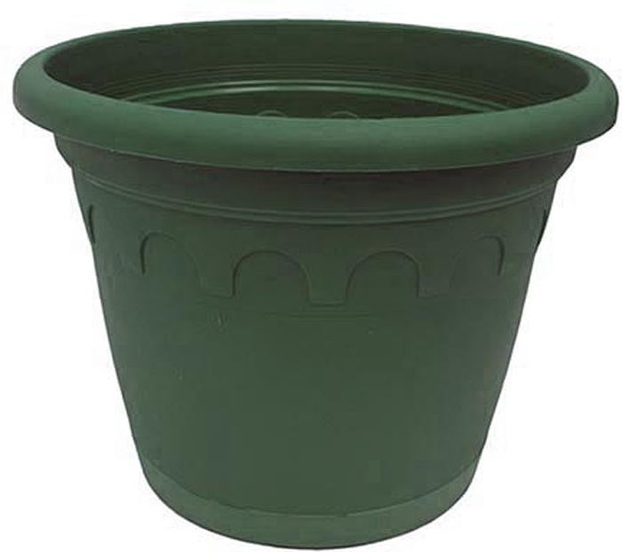 Горшок для цветов Soparco Roma, с поддоном, цвет: зеленая сосна, 1,1 л704029Прекрасное решение для выращивания растений в домах, квартирах и офисах. Разная высота дренажных отверстий на дне горшка позволяет стекать лишней воде в блюдце, при этом через нижние отверстия почва увлажняется, защищая растения от пересыхания.