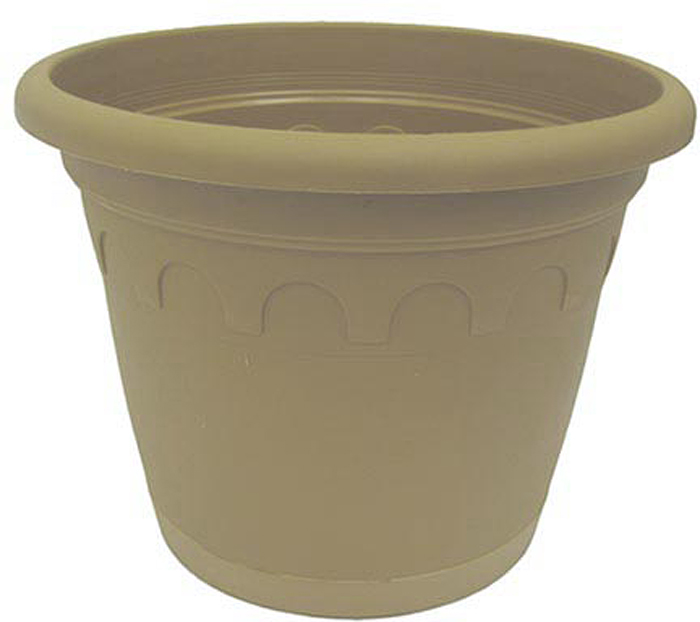 Горшок для цветов Soparco Roma, с поддоном, цвет: песок, 1,1 л горшок для цветов soparco roma с поддоном цвет песок 3 5 л