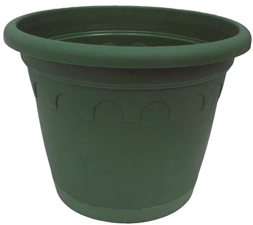 Горшок для цветов Soparco Roma, с поддоном, цвет: зеленая сосна, 11,5 л704032Горшок для цветов с поддоном Soparco - прекрасное решение для выращивания растений в домах, квартирах и офисах. Изделие выполнено из полипропилена. Разная высота дренажных отверстий на дне горшка позволяет стекать лишней воде в блюдце, при этом через нижние отверстия почва увлажняется, защищая растения от пересыхания.
