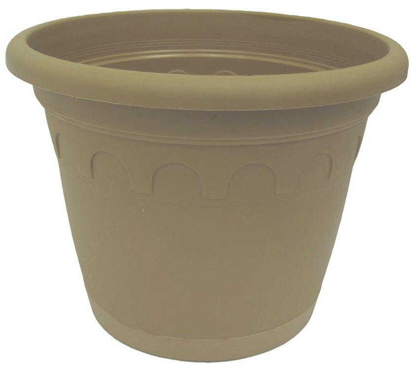 Горшок для цветов Soparco Roma, с поддоном, цвет: песок, 11,5 л704033Прекрасное решение для выращивания растений в домах, квартирах и офисах. Разная высота дренажных отверстий на дне горшка позволяет стекать лишней воде в блюдце, при этом через нижние отверстия почва увлажняется, защищая растения от пересыхания.