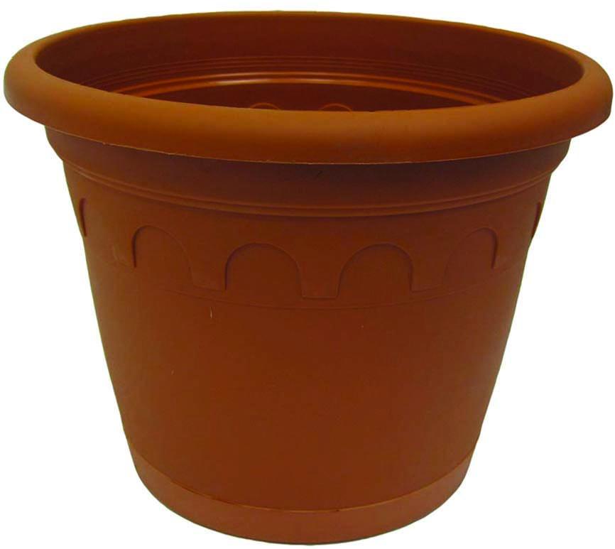 Горшок для цветов Soparco Roma, с поддоном, цвет: глина, 15 л704034Горшок для цветов с поддоном Soparco - прекрасное решение для выращивания растений в домах, квартирах и офисах. Изделие выполнено из полипропилена. Разная высота дренажных отверстий на дне горшка позволяет стекать лишней воде в блюдце, при этом через нижние отверстия почва увлажняется, защищая растения от пересыхания.