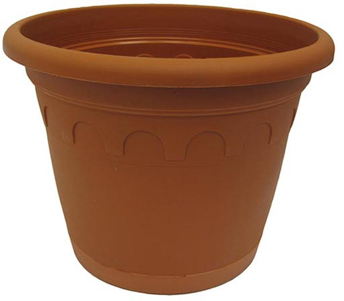 Горшок для цветов Soparco Roma, с поддоном, цвет: глина, 2,4 л704037Прекрасное решение для выращивания растений в домах, квартирах и офисах. Разная высота дренажных отверстий на дне горшка позволяет стекать лишней воде в блюдце, при этом через нижние отверстия почва увлажняется, защищая растения от пересыхания.