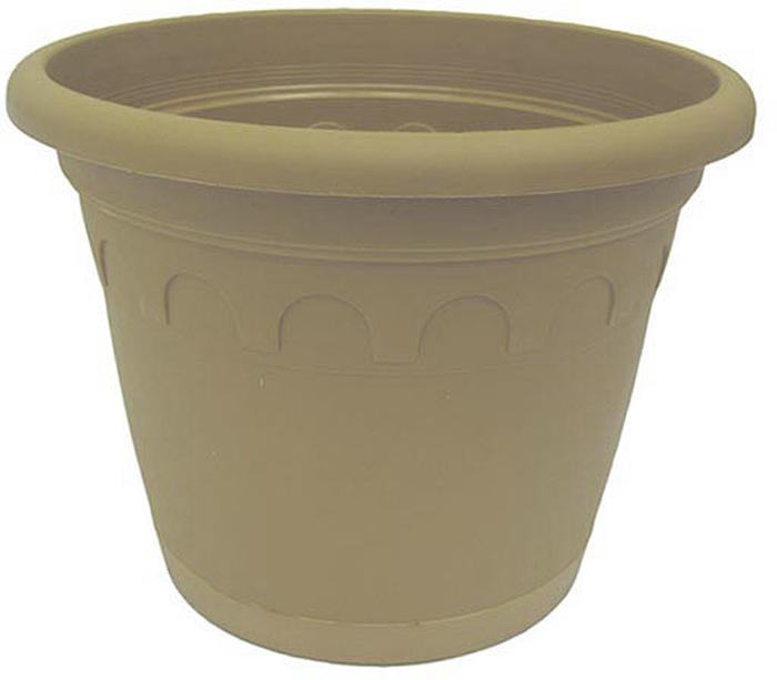 Горшок для цветов Soparco Roma, с поддоном, цвет: песок, 2,4 л704039Горшок для цветов с поддоном Soparco - прекрасное решение для выращивания растений в домах, квартирах и офисах. Изделие выполнено из полипропилена. Разная высота дренажных отверстий на дне горшка позволяет стекать лишней воде в блюдце, при этом через нижние отверстия почва увлажняется, защищая растения от пересыхания.