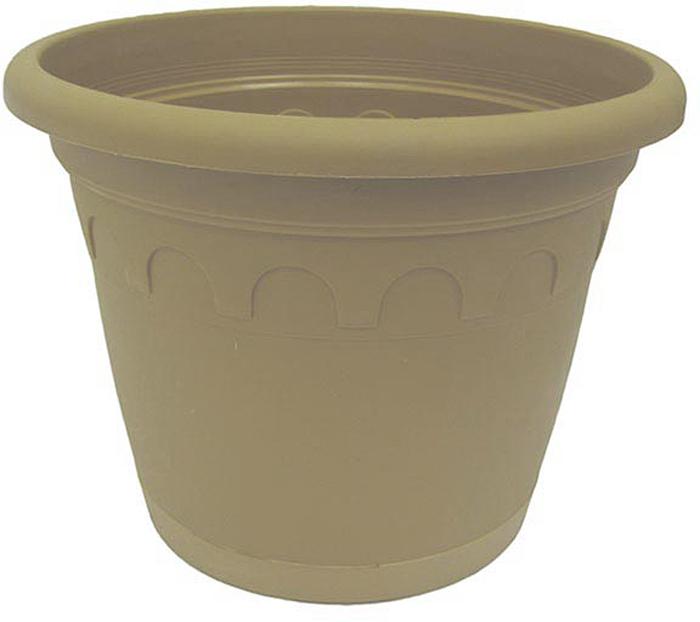 """Горшок для цветов с поддоном """"Soparco"""" - прекрасное решение для выращивания растений в домах, квартирах и офисах. Изделие выполнено из полипропилена.Разная высота дренажных отверстий на дне горшка позволяет стекать лишней воде в блюдце, при этом через нижние отверстия почва увлажняется, защищая растения от пересыхания."""