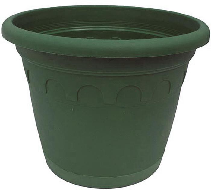 Горшок для цветов Soparco Roma, с поддоном, цвет: зеленая сосна, 4,6 л704044Прекрасное решение для выращивания растений в домах, квартирах и офисах. Разная высота дренажных отверстий на дне горшка позволяет стекать лишней воде в блюдце, при этом через нижние отверстия почва увлажняется, защищая растения от пересыхания.