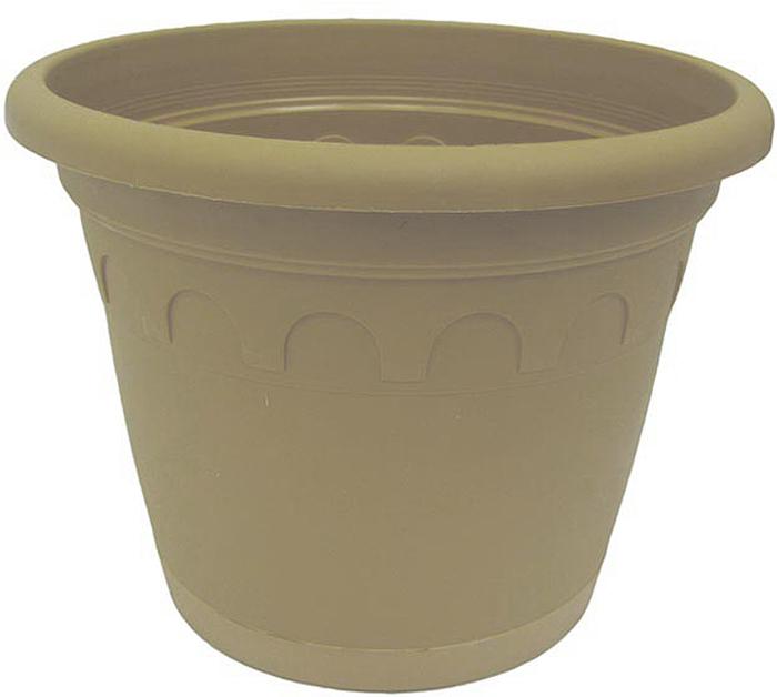 """Горшок для цветов с поддоном """"Soparco"""" - прекрасное решение для выращивания растений в домах, квартирах и офисах. Изделие выполнено из полипропилена. Разная высота дренажных отверстий на дне горшка позволяет стекать лишней воде в блюдце, при этом через нижние отверстия почва увлажняется, защищая растения от пересыхания."""