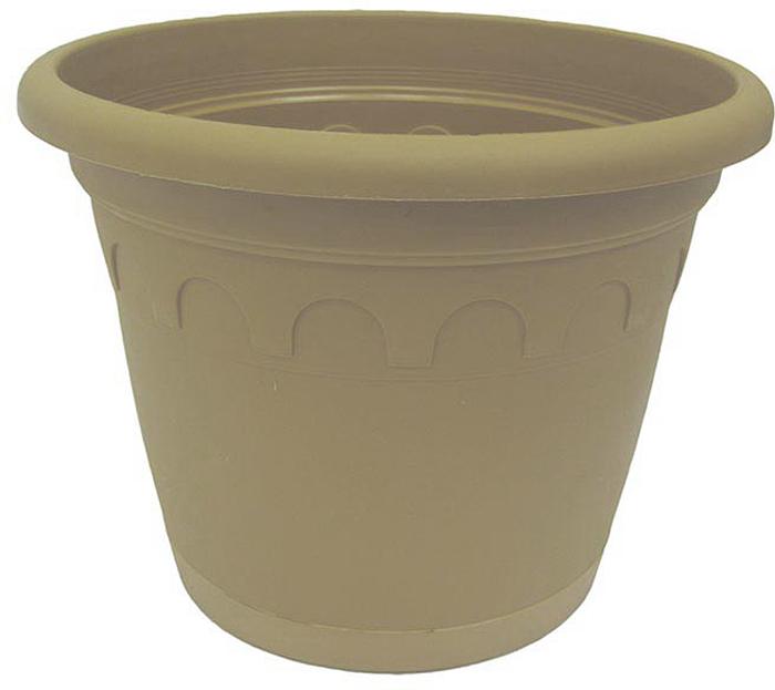 Горшок для цветов Soparco Roma, с поддоном, цвет: песок, 5,9 л704048Горшок для цветов с поддоном Soparco - прекрасное решение для выращивания растений в домах, квартирах и офисах. Изделие выполнено из полипропилена. Разная высота дренажных отверстий на дне горшка позволяет стекать лишней воде в блюдце, при этом через нижние отверстия почва увлажняется, защищая растения от пересыхания.
