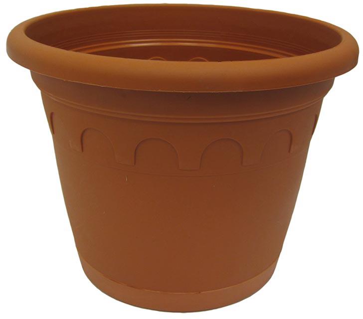 Горшок для цветов Soparco Roma, с поддоном, цвет: глина, 8,7 л704049Прекрасное решение для выращивания растений в домах, квартирах и офисах. Разная высота дренажных отверстий на дне горшка позволяет стекать лишней воде в блюдце, при этом через нижние отверстия почва увлажняется, защищая растения от пересыхания.