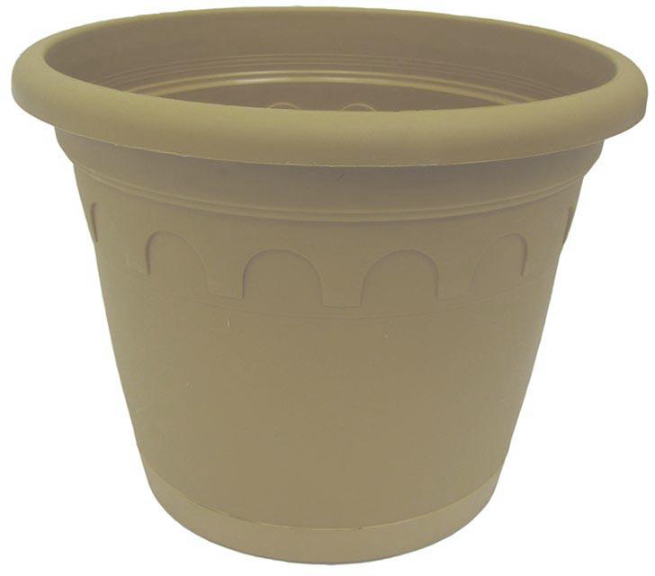 Горшок для цветов Soparco Roma, с поддоном, цвет: песок, 8,7 л704051Горшок для цветов с поддоном Soparco - прекрасное решение для выращивания растений в домах, квартирах и офисах. Изделие выполнено из полипропилена. Разная высота дренажных отверстий на дне горшка позволяет стекать лишней воде в блюдце, при этом через нижние отверстия почва увлажняется, защищая растения от пересыхания.