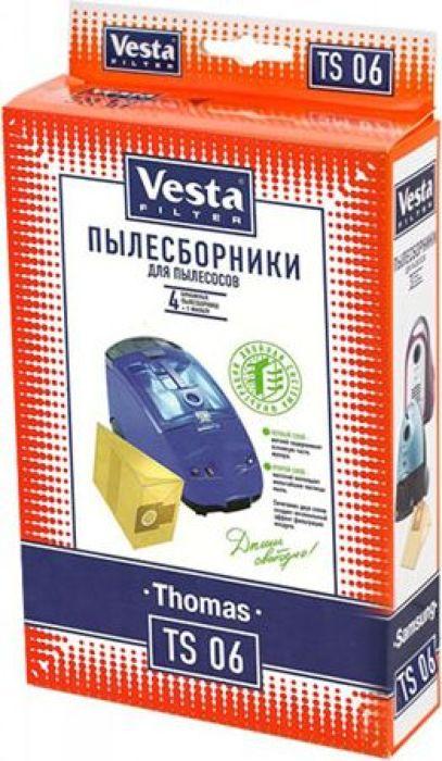 Vesta filter TS 06 комплект пылесборников, 4 шт + фильтр vesta filter ts 06 комплект пылесборников 4 шт фильтр