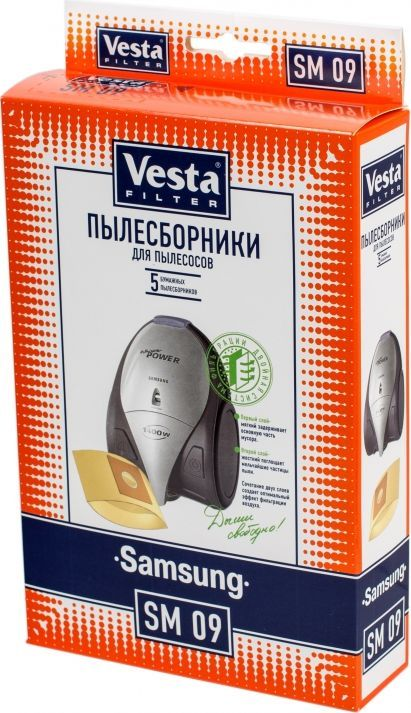 Vesta filter SM 09 комплект пылесборников, 5 шт sc sc fiber cable fiber patch cord sc jumper cable single mode sm simplex 9 125 3 5 10 15 100 meters