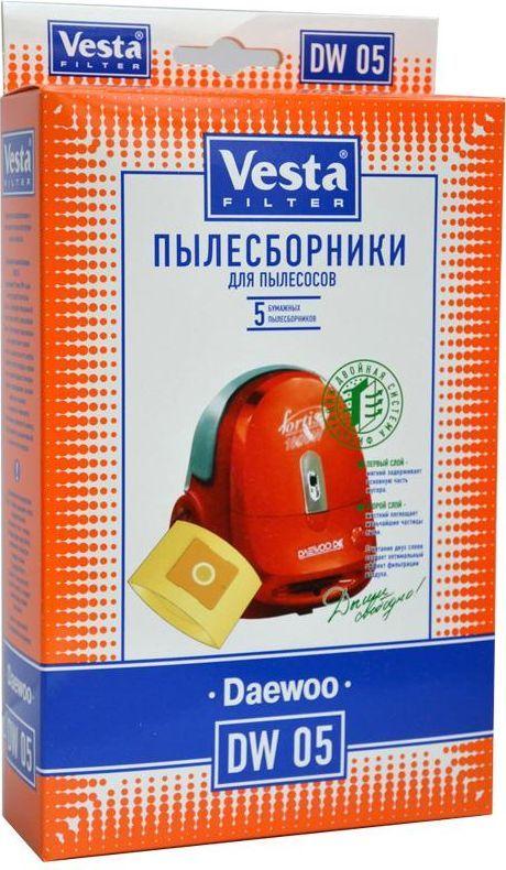 Vesta filter DW 05 комплект пылесборников, 5 шт topperr dw 3 фильтр для пылесосов daewoo 5 шт