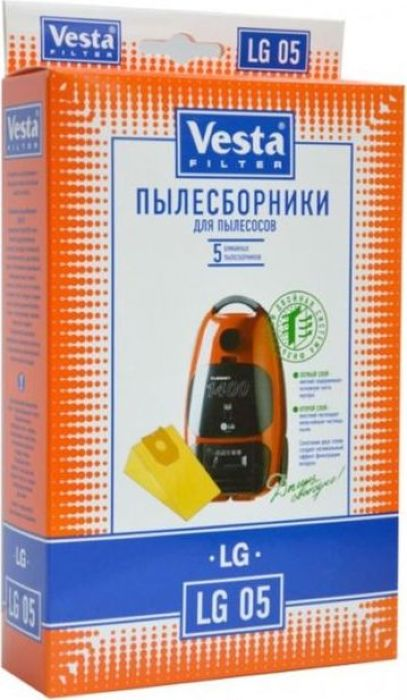 Vesta filter LG 05 комплект пылесборников, 5 шт цена 2017