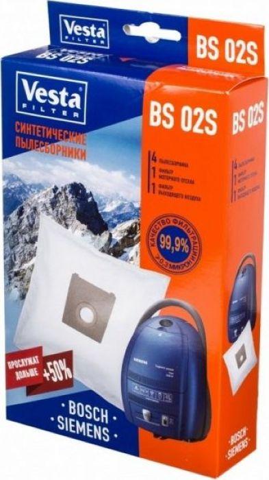 Vesta filter BS 02 S комплект пылесборников, 4 шт + 2 фильтра