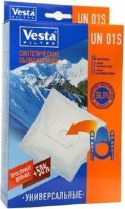 Vesta filter UN 01 S комплект пылесборников универсальный, 4 шт + 2 фильтра [pt2 s 2 pph3 4]