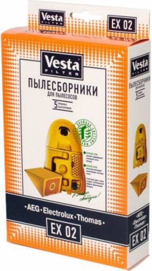 Vesta filter EX 02 комплект пылесборников, 5 шт vapor electronic cigaratte rofvape witcher box mod 75w tc kit with atomizer airflow vaporizer vs evic vtwo min istick pico mega