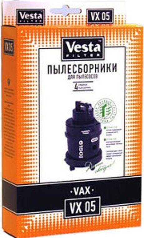 Vesta filter VX 05 комплект пылесборников, 4 шт40925Пылесборники бумажные (4 шт.) для пылесосов: VAX: Powa, Rapid, Rapid Plus, Wash & Vac, Pet Vax