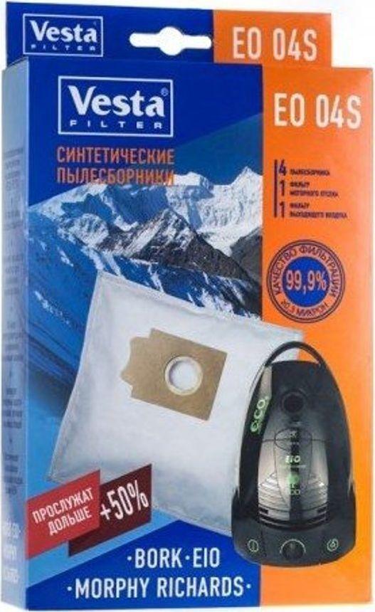 все цены на Vesta filter EO 04 S комплект пылесборников для EIO/BORK, 4 шт + 2 фильтра