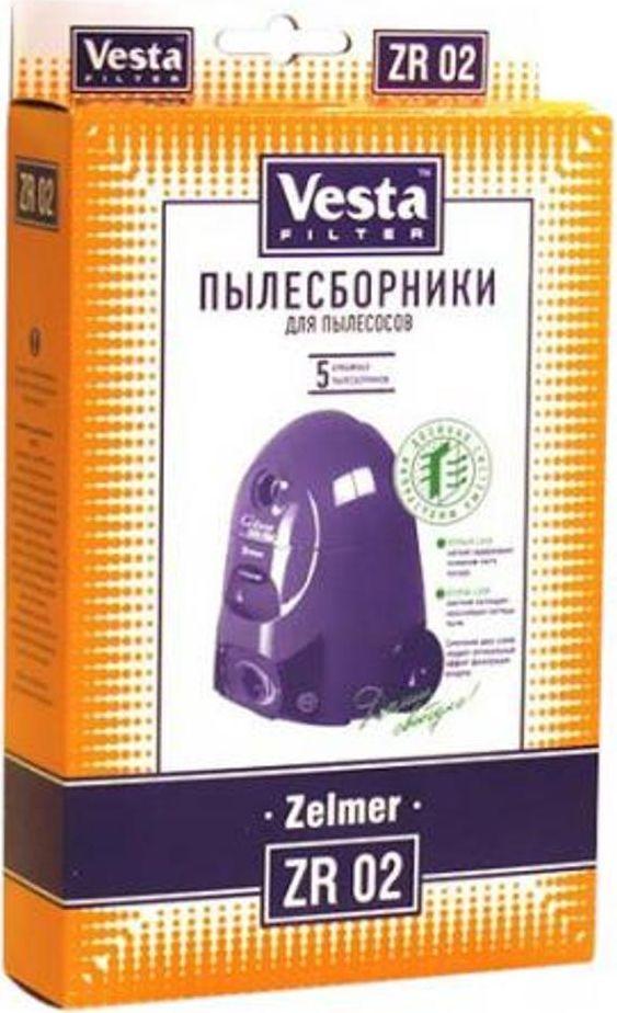 Vesta filter ZR 02 комплект пылесборников, 5 шт мешки для пыли vesta filter zr 02 для zelmer