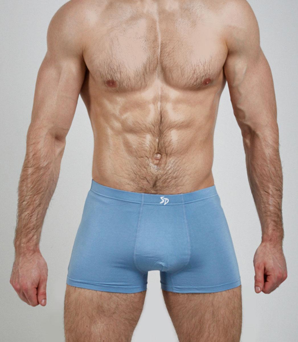 Трусы-боксеры мужские By Salvador Dali, цвет: голубой. SD2035-3. Размер M (46)SD2035-3Мужские трусы-боксеры от бренда By Salvador Dali пошиты из мягкой, приятной для тела, бамбуковой ткани. Модель выполнена со скрытой, хорошо тянущейся резинки, что исключает потение и ощущение дискомфорта в области талии. Классический однотон, премиальный натуральный материал, высокотехнологичная обработка швов, обеспечивают максимальный комфорт и практичность ношения для требовательных к качеству мужчин.