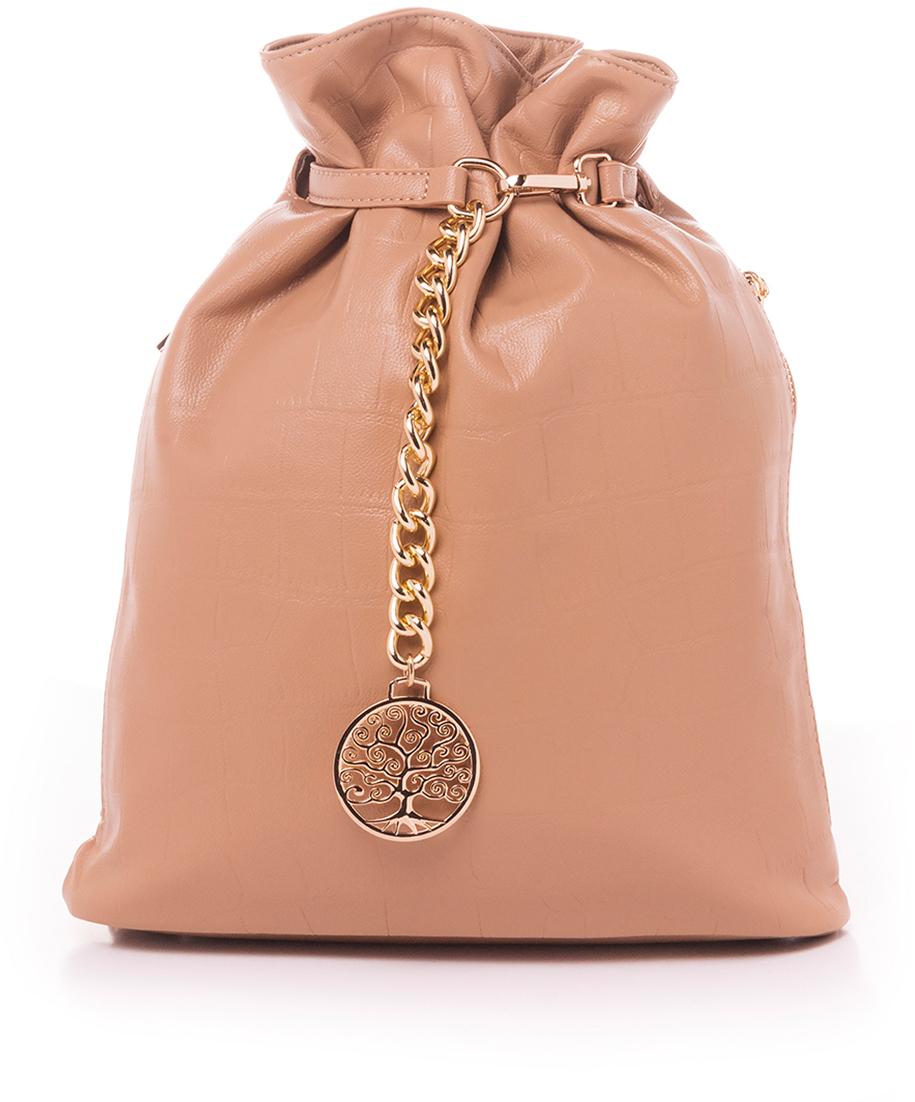Рюкзак женский Baggini, цвет: темно-бежевый. 28724/33 археоптерикс arcteryx компьютер сумка рюкзак клинка 20 рюкзак 16179 темно черный 20l