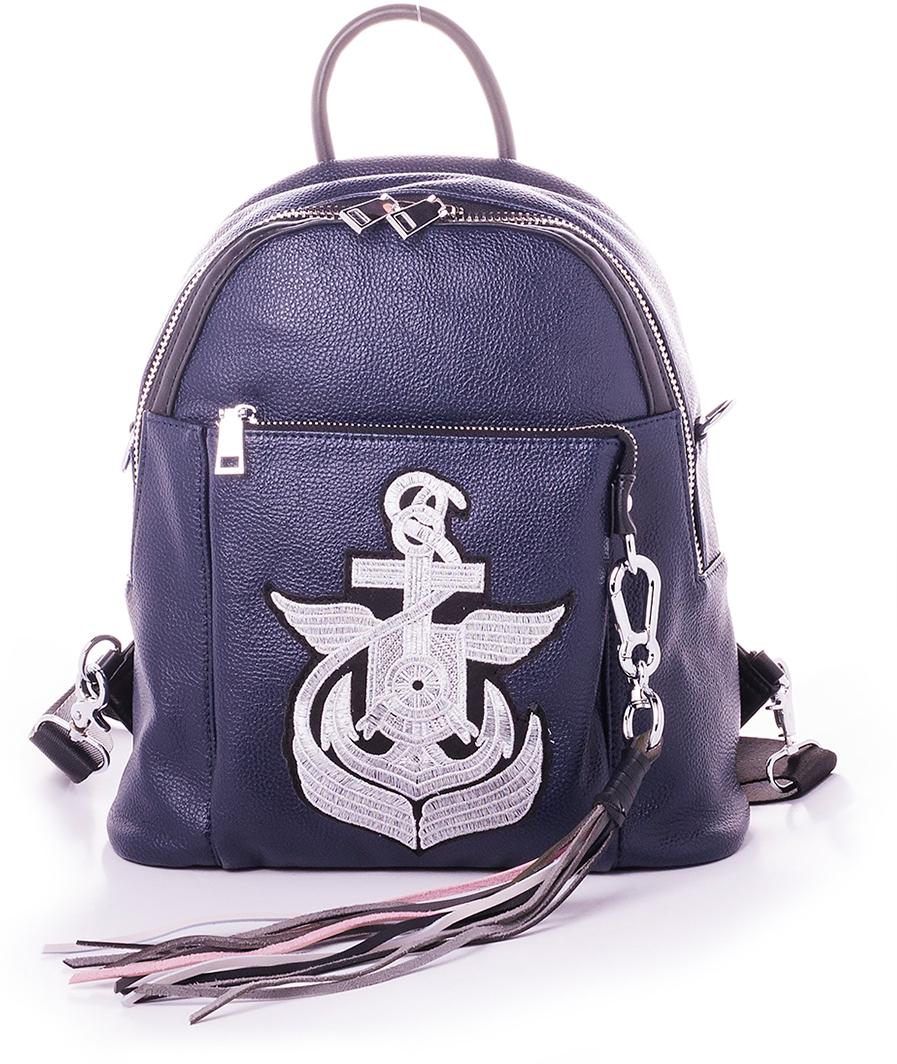 Рюкзак женский Baggini, цвет: синий. 29006/4529006/45Женский рюкзак выполнен из искусственной кожи, имеет одно внутреннее отделение.