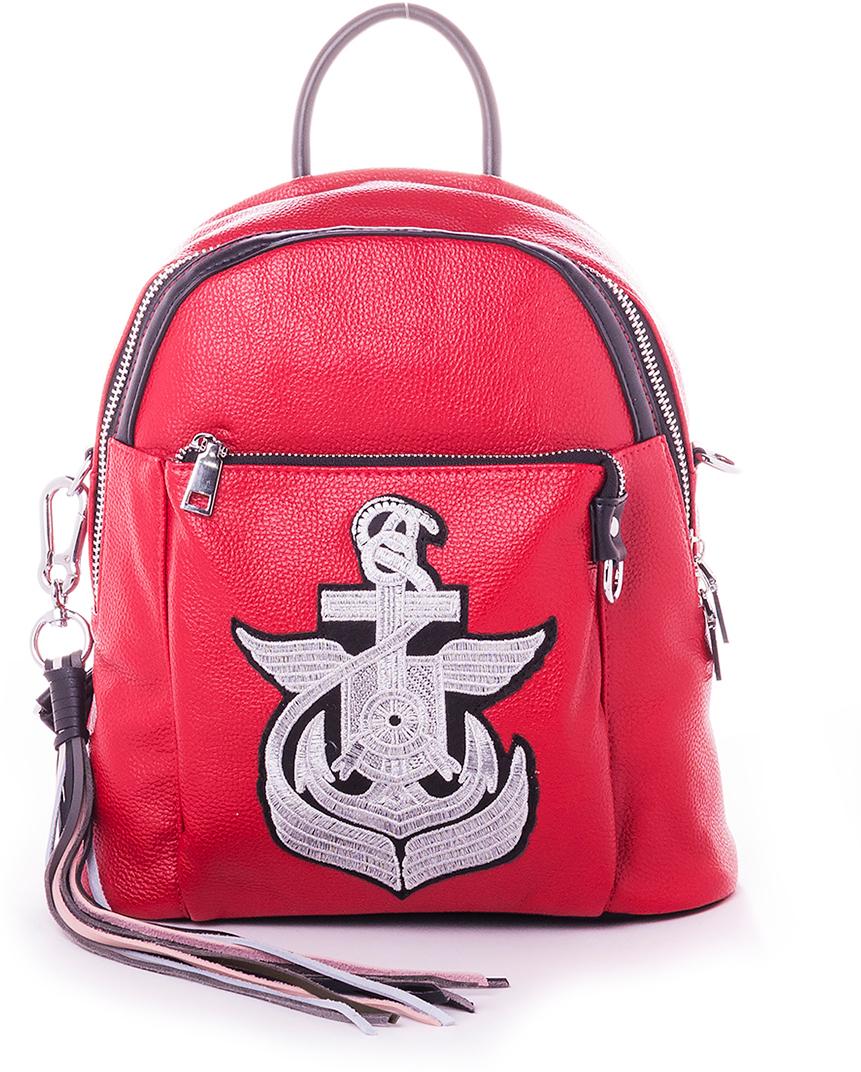 Рюкзак женский Baggini, цвет: красный. 29006/6929006/69Женский рюкзак выполнен из искусственной кожи, имеет одно внутреннее отделение.