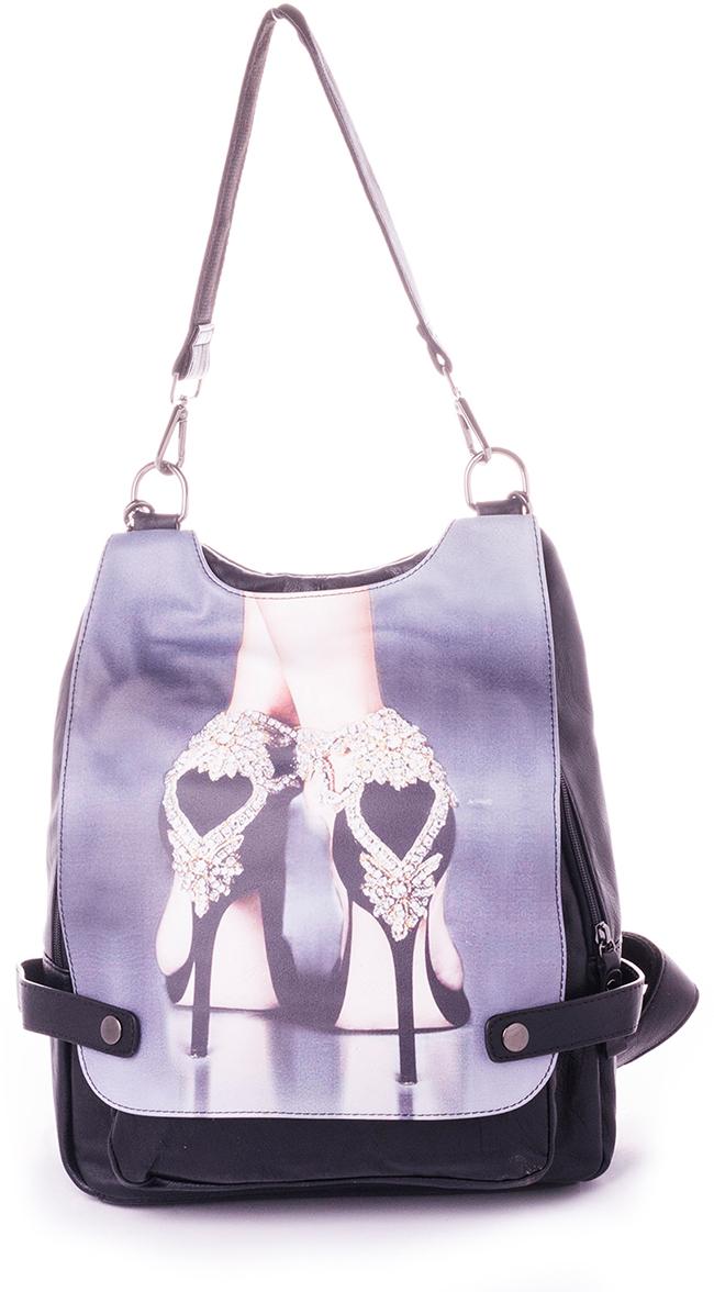 Рюкзак женский Baggini, цвет: черный. 29718-229718-2Женский рюкзак выполнен из искусственной кожи, имеет одно внутреннее отделение.