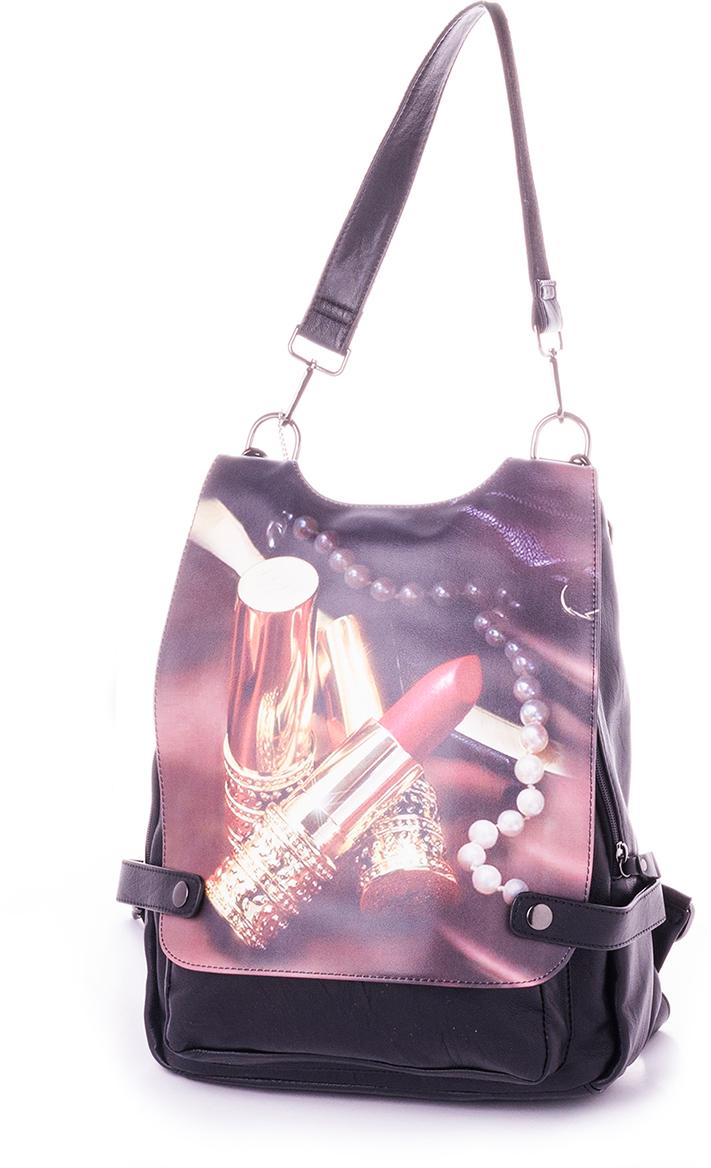 Рюкзак женский Baggini, цвет: черный. 29718-3