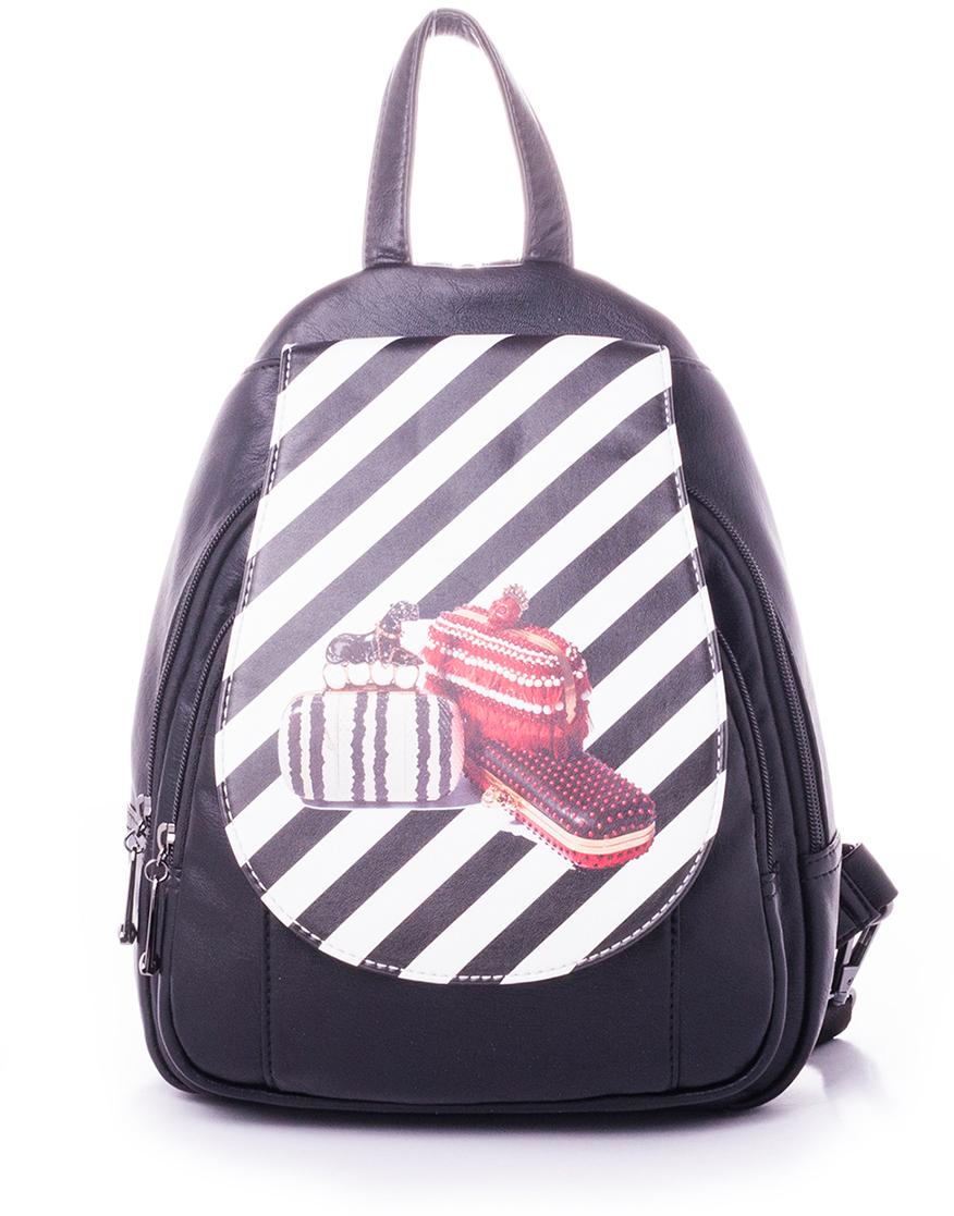 Рюкзак женский Baggini, цвет: бордовый. 29910-329910-3Женский рюкзак выполнен из искусственной кожи, имеет одно внутреннее отделение.