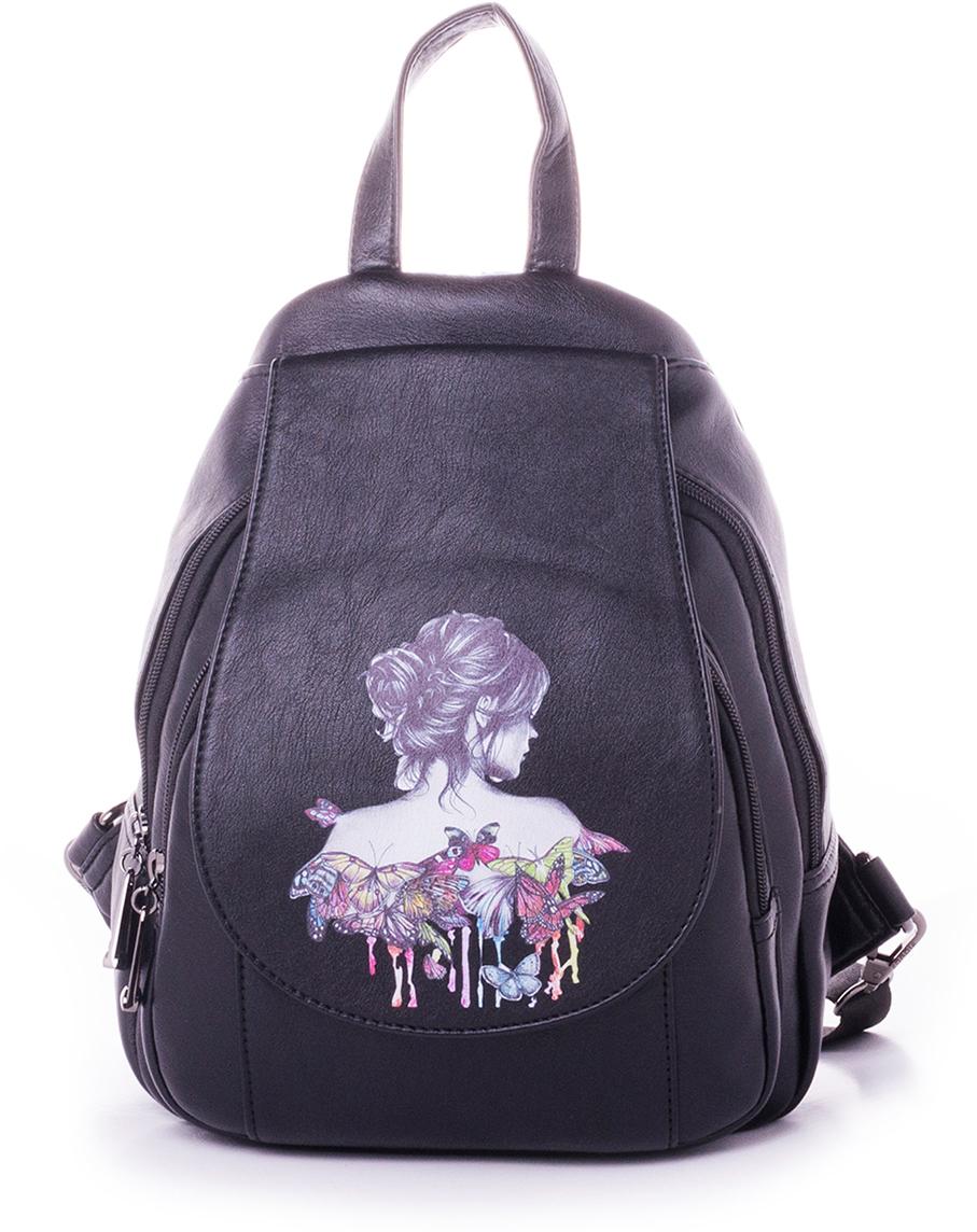 Рюкзак женский Baggini, цвет: бордовый. 29911-229911-2Женский рюкзак выполнен из искусственной кожи, имеет одно внутреннее отделение.
