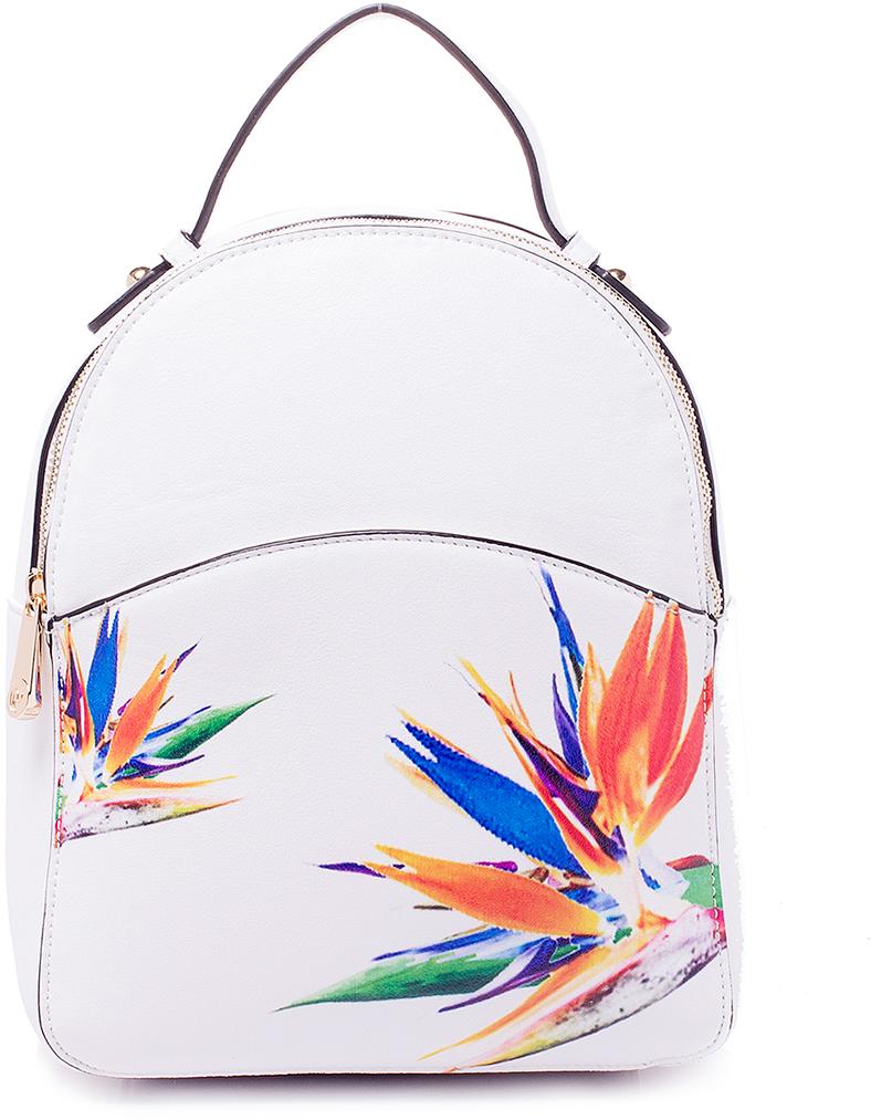 Рюкзак женский Renee Kler, цвет: белый. RK530-02RK530-02Женский рюкзак выполнен из искусственной кожи, имеет одно внутреннее отделение.