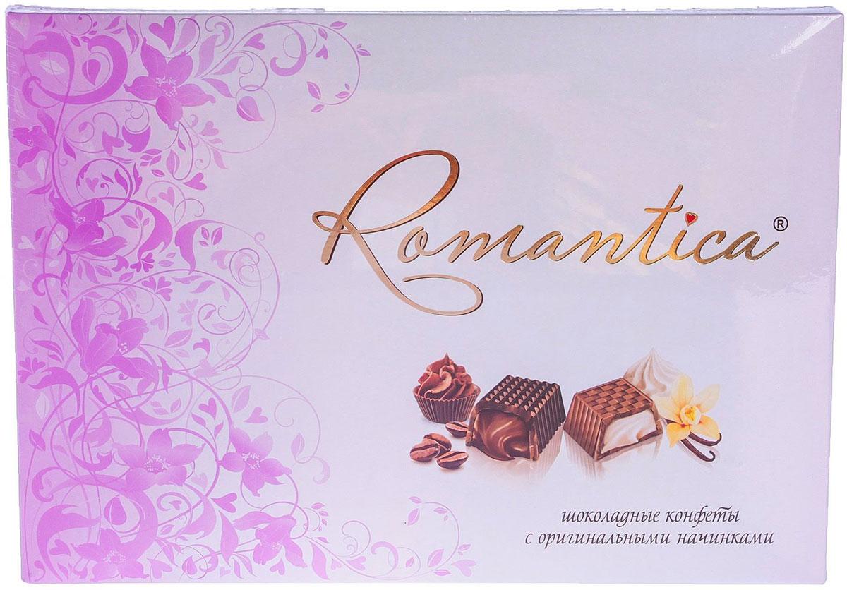Славянка Romantica набор конфет, 320 г (цвет упаковки фуксия) конфеты славянка лёвушка 199г