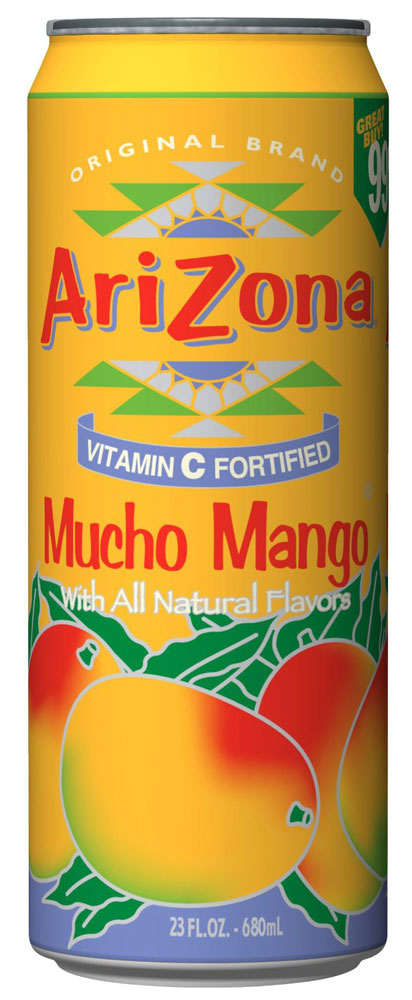 AriZona Mango напиток негазированный, 680 мл напиток mychoice nutrition my fitness l carnitine 2700 shot клубника 9 x 60 мл