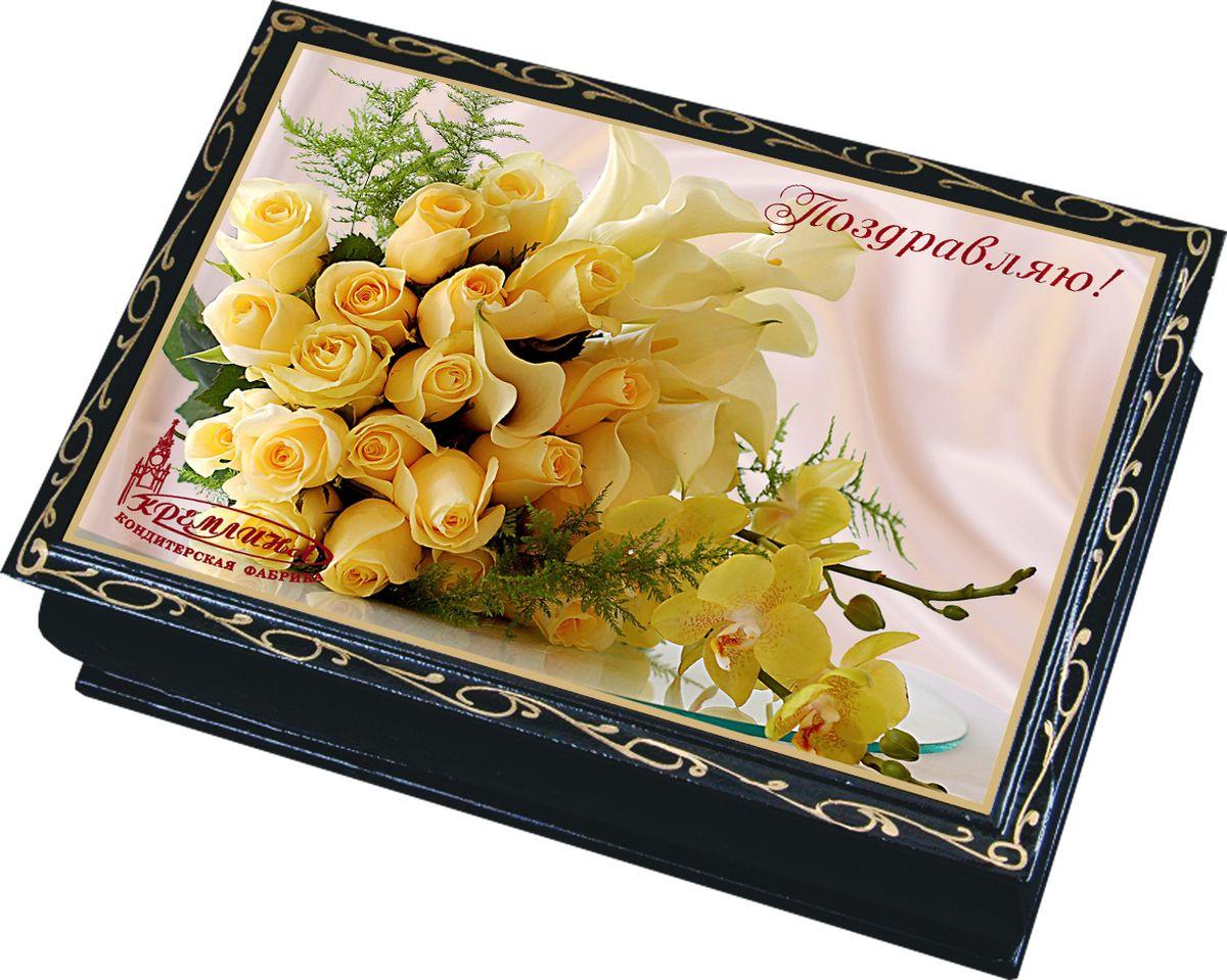 Кремлина Поздравляю чернослив шоколадный с миндалем конфеты, 150 г кремл��на зимние забавы шкатулка подарочная 150 г