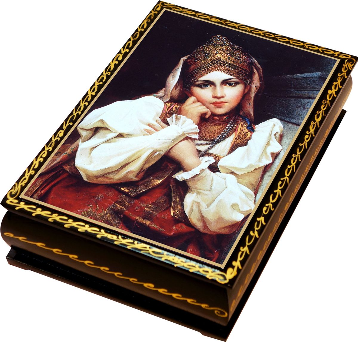 Кремлина Камин курага шоколадная с грецким орехом конфеты, 150 г4607039270037_каминПодарочная серия конфет в шкатулке лаковая миниатюра с конфетами. Курага шоколадная с грецким орехом