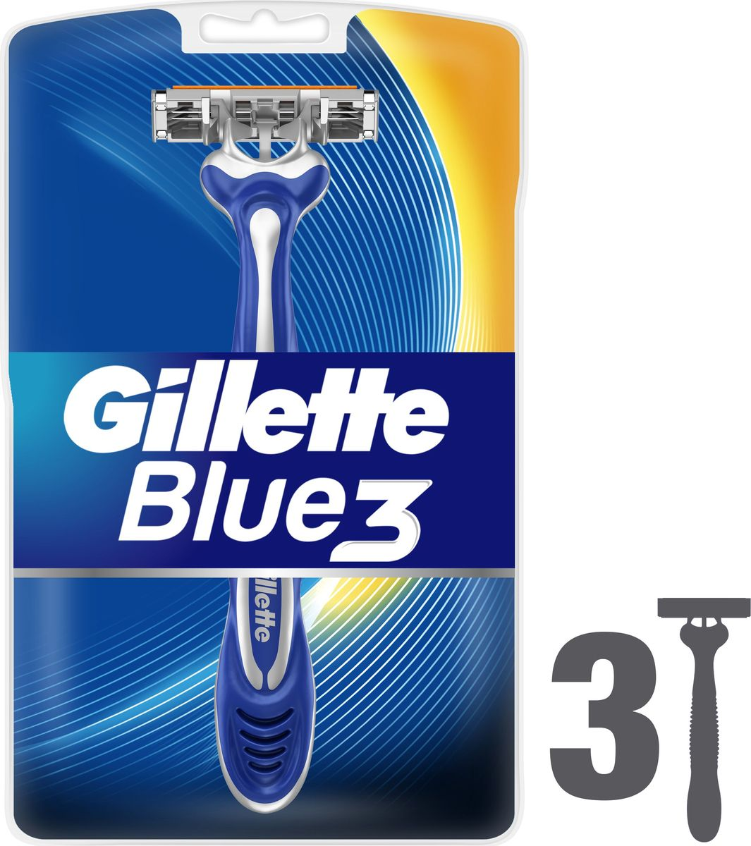 Gillette Blue 3 Одноразовые мужские бритвы, 3 шт ds3231 high precision real time clock module blue 3 3 5 5v