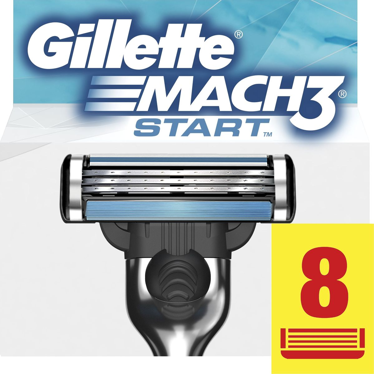 Gillette Mach 3 Start Сменные кассеты для бритвы, 8 шт cменные кассеты для бритья mach 3 gillette 4 шт