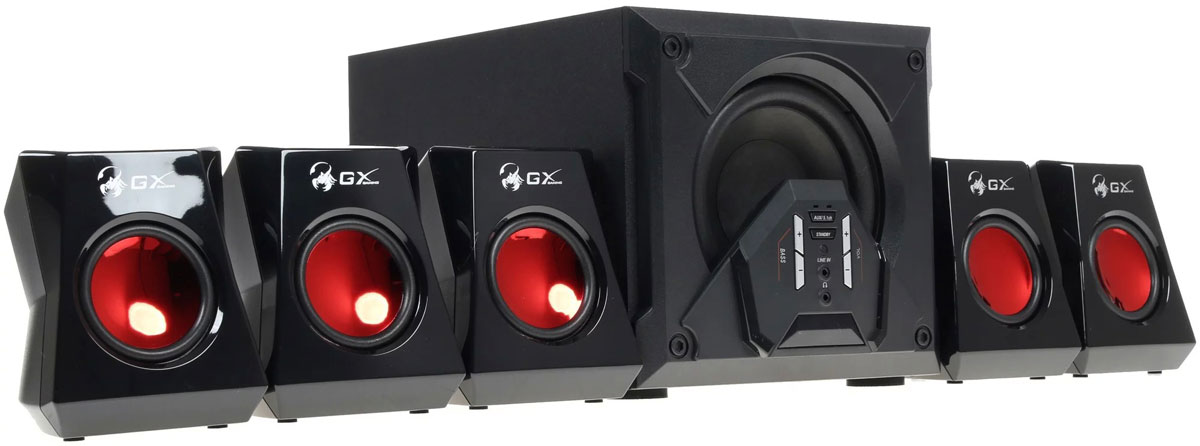 Genius SW-G5.1 3500, Black акустическая система гарнитура genius hs 04su с устранением шумовых помех для msn