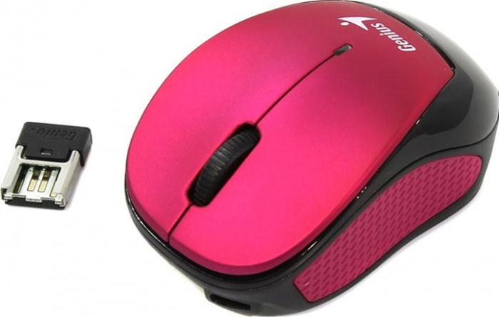 Genius Micro Traveler 9000R V3, Pink мышьMicro Traveler 9000R V3Только мышь Micro Traveler 9000R имеет длину 68 мм. Эта суперкомпактная мышь станет стильным аксессуаром в вашей сумке, ведь вы сможете брать ее с собой куда угодно. Кроме того, Micro Traveler 9000R можно установить в крепление Stick-N-Go, так что участвовать в совещаниях станет еще удобнее.Если мышь Micro Traveler 9000R разрядится, можно просто подключить ее к встроенному литий-полимерному аккумулятору емкостью 240 мАч и не менять батарейки. Она настолько энергоэффективна, что может работать до 4 недель после одной зарядки.Благодаря специальной конструкции микроприемник USB, когда он не используется, можно хранить в гнезде.