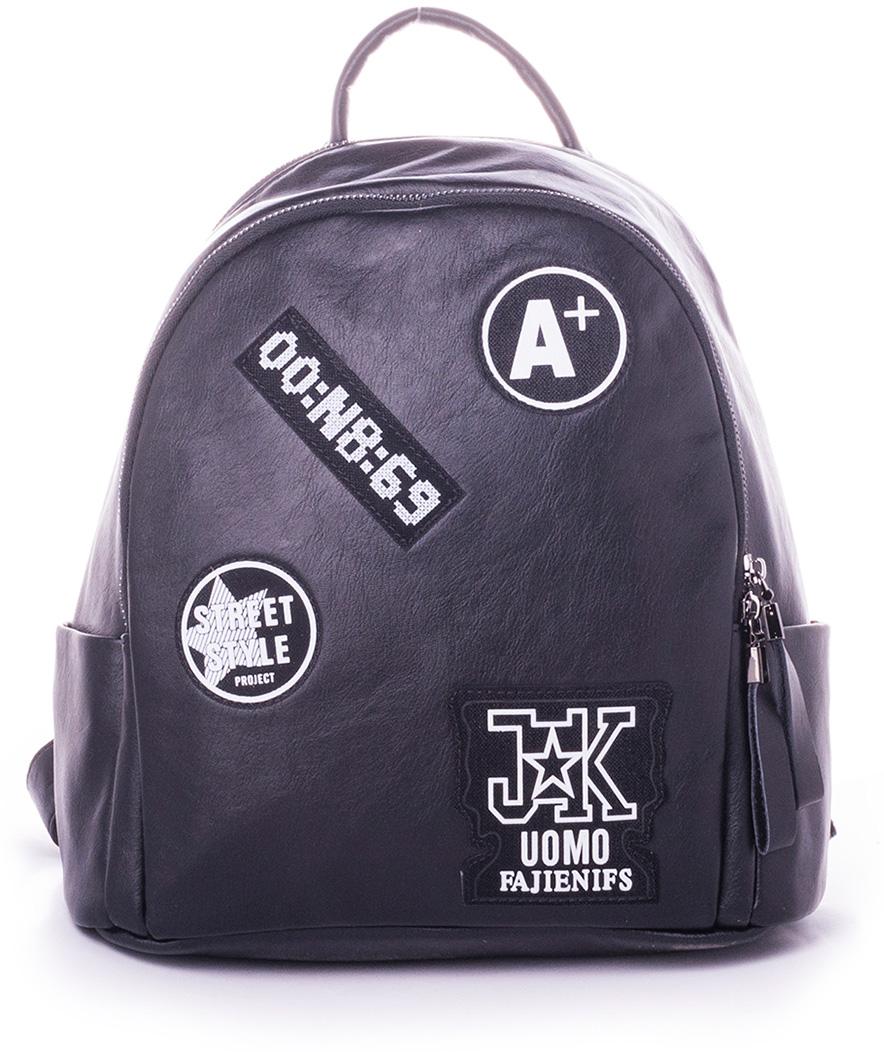 Рюкзак женский Baggini, цвет: черный. 29008-1/1029008-1/10Женский рюкзак выполнен из искусственной кожи, имеет одно внутреннее отделение.