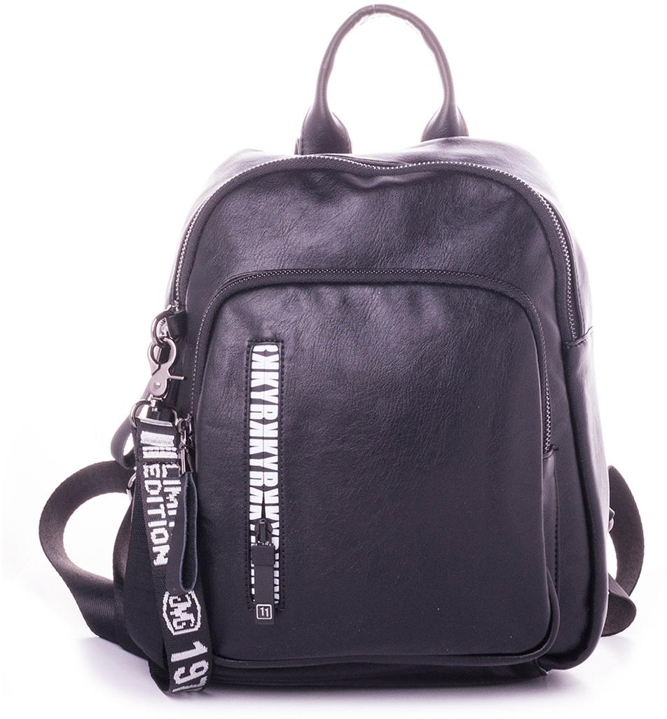 Рюкзак женский Baggini, цвет: черный. 29007-2/1029007-2/10Женский рюкзак выполнен из искусственной кожи, имеет одно внутреннее отделение.