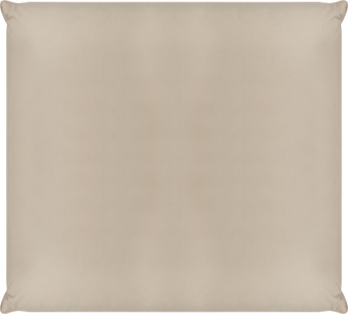 Подушка Belashoff Диалог, средняя, цвет: бежевый, шоколадный, 68 х 68 смПП 3 - 1 СВ изготовлении коллекции Диалог используется технология 2 в 1 - уникальное сочетание пухового наполнителя и полиэфирного микроволокна, что придает изделиям еще большую упругость и легкость в сочетании с традиционными теплоизоляционными и гигроскопичными качествами. Подушка с таким наполнителем обеспечит оптимальную поддержку головы во время сна, а одеяло согреет и создаст комфортные условия для отдыха.Концепцию 2 в 1 в коллекции Диалог подчеркивает сочетание двух контрастных цветов ткани.