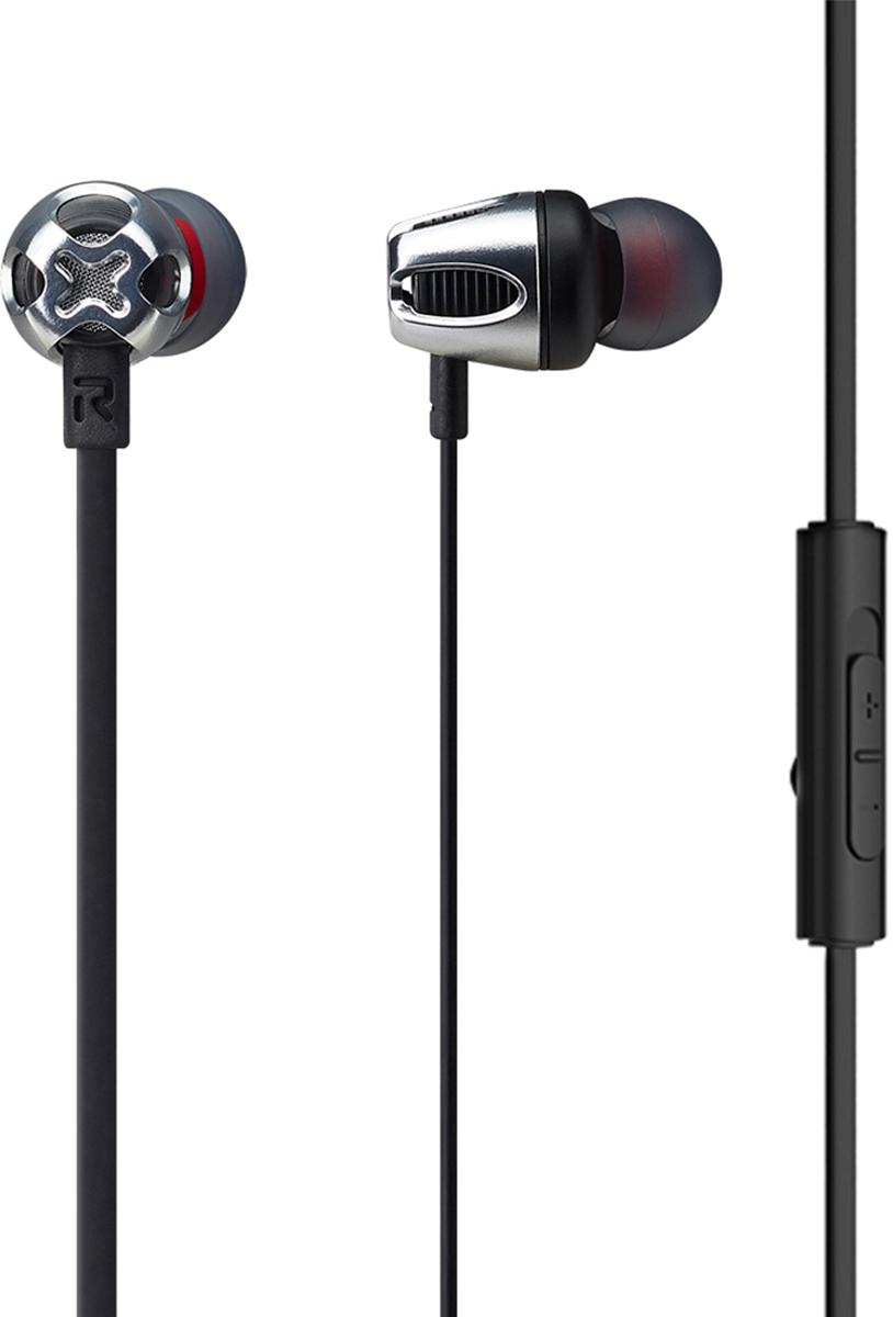 Phiaton C465S mic, Black наушникиCPU-ES0465KK01Высокочувствительные внитриканальные наушники Cresyn C465S с микрофоном гарантируют читый звук и усиление баса. Динамичный и агрессивный дизайн не оствит вас без внимания в любой компании, а также удивит вас своей легкостью. Встроенный микрофон и пульт ДУ позволит вам управлять воспроизведением музыки и отвечать на звонки одной кнопкой, которая подходит как к Android, так и к iOs. Плоский кабель следит за тем, чтобы наушники меньше спутывались. Тип: Внутриканальные Диаметр динамиков: диаметр 12 мм Диапазон частот: 18 Гц~ 22 кГц Сопротивление: 16 Ом Чувствительность: 103 дБ Макс. Мощность: 40 мВт Длина кабеля: 1.1 м Коннектор : диаметр 3.5 мм Вес : 13.5 г В комплекте: Дополнительные насадки 4х размеров (XS, S, M, L) Чехол