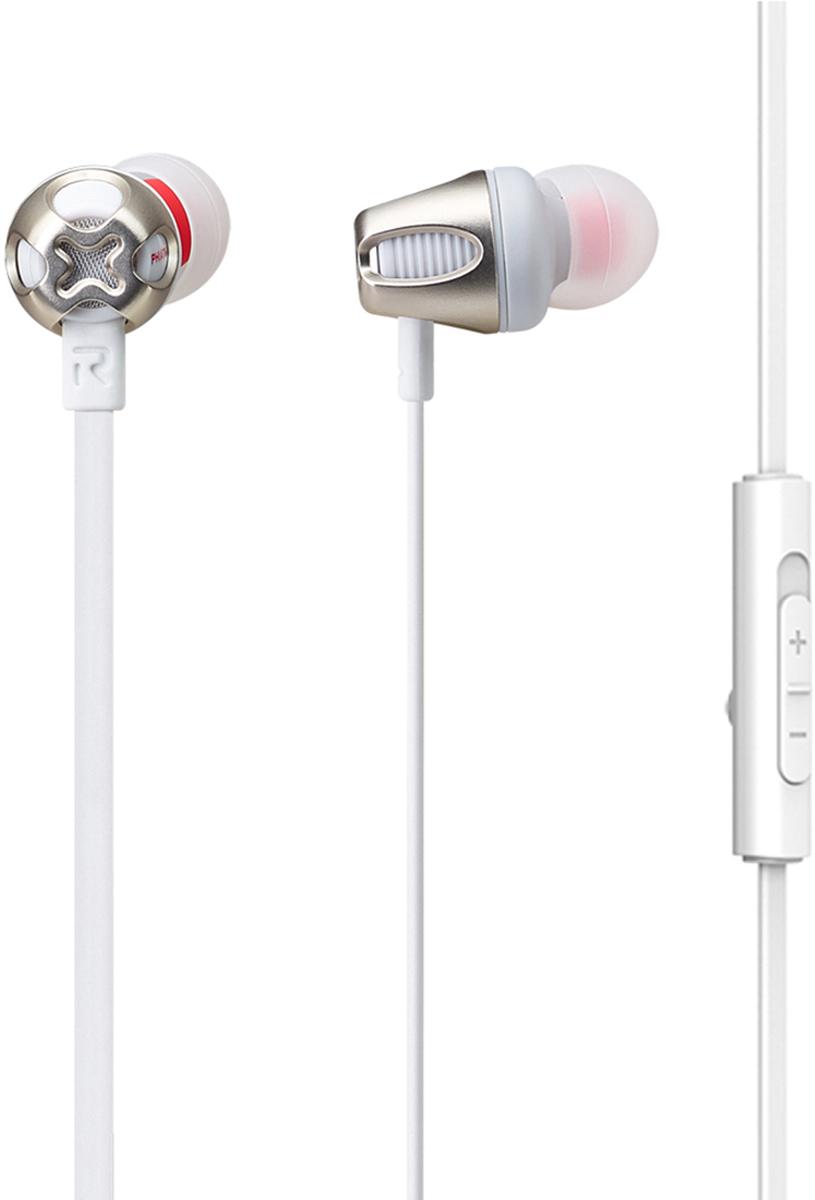 Phiaton C465S mic, White наушникиCPU-ES0465WW01Высокочувствительные внитриканальные наушники Cresyn C465S с микрофоном гарантируют читый звук и усиление баса. Динамичный и агрессивный дизайн не оствит вас без внимания в любой компании, а также удивит вас своей легкостью. Встроенный микрофон и пульт ДУ позволит вам управлять воспроизведением музыки и отвечать на звонки одной кнопкой, которая подходит как к Android, так и к iOs. Плоский кабель следит за тем, чтобы наушники меньше спутывались. Тип: Внутриканальные Диаметр динамиков: диаметр 12 мм Диапазон частот: 18 Гц~ 22 кГц Сопротивление: 16 Ом Чувствительность: 103 дБ Макс. Мощность: 40 мВт Длина кабеля: 1.1 м Коннектор : диаметр 3.5 мм Вес : 13.5 г В комплекте: Дополнительные насадки 4х размеров (XS, S, M, L) Чехол