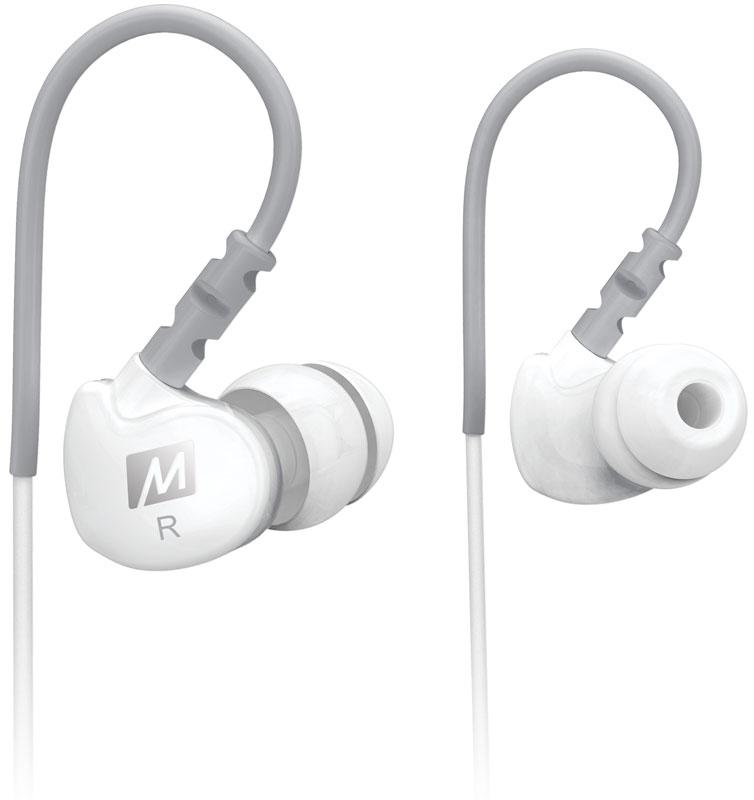 MEE Audiо М6, White наушникиEarphone-M6-WT-MEEСпортивные наушники MEE audio M6 - это непревзойденный дизайн и превосходное качество звучания. Они подойдут для занятий спортом, пробежек, активного времяпровождения - звукоизоляция намного лучше, чем у многих наушников-конкурентов. MEE audio M6 надежные наушники, которые отлично впишутся в стиль молодых, активных людей. Сменные амбушюры отлично блокирует фоновый шумы. MEE audio M6 имеют надежную посадку и обеспечивает длительный комфорт при прослушивании, избавляя пользователя от необходимости корректировать наушники. MEE audio M6 совместимы с iPod, iPhone, телефонами и MP3-проигрывателями.В наушниках MEE audio M6 используется дизайн с заушной посадкой, обеспечивающей комфорт и неподвижность наушника при любой деятельности, что дает вам возможность наслаждаться четким и динамичным звуком. В сочетании с проверенной в лабораторных условиях пото- и водостойкой конструкцией, посадка наушника позволит забыть о ваших наушниках и сосредоточиться на тренировках. Какой бы спорт и движения вы ни выбрали, MEE audio M6 будет соответствовать вашему темпу.MEE audio M6 СПОРТИВНЫЕ НАУШНИКИ С УВЕРЕННОЙ ПОСАДКОЙ Провод с эффектом памяти убережет наушники от выпадания Запатентованная эргономичная конструкция наушников обеспечивает долговременный комфорт при ношении Шумоизолирующий дизайн с энергичным звуком и усиленным басом Сертифицированны IPX5 по пото- и водостойкости В комплект входит сумка для переноски и 6 комплектов насадок для наилучшего соответствия и комфортаMEE audio M6 ИДЕАЛЬНО ПОДХОДИТ ДЛЯ: Бега, подъемов веса и других видов спорта Использования под шлемом Сценического мониторинга Ежедневного использованияФОКУС НА ВАШУ ДЕЯТЕЛЬНОСТЬ Разработанные для надежной и комфортной посадки в ухе, MEE audio M6 устраняют необходимость постоянно поправлять наушники. Это достигается благодаря запатентованному эргономичному дизайну корпуса. Провод с эффектом памяти идеально сядет по форме ваших ушей, обеспечивая четкую подгонку. Шесть набор