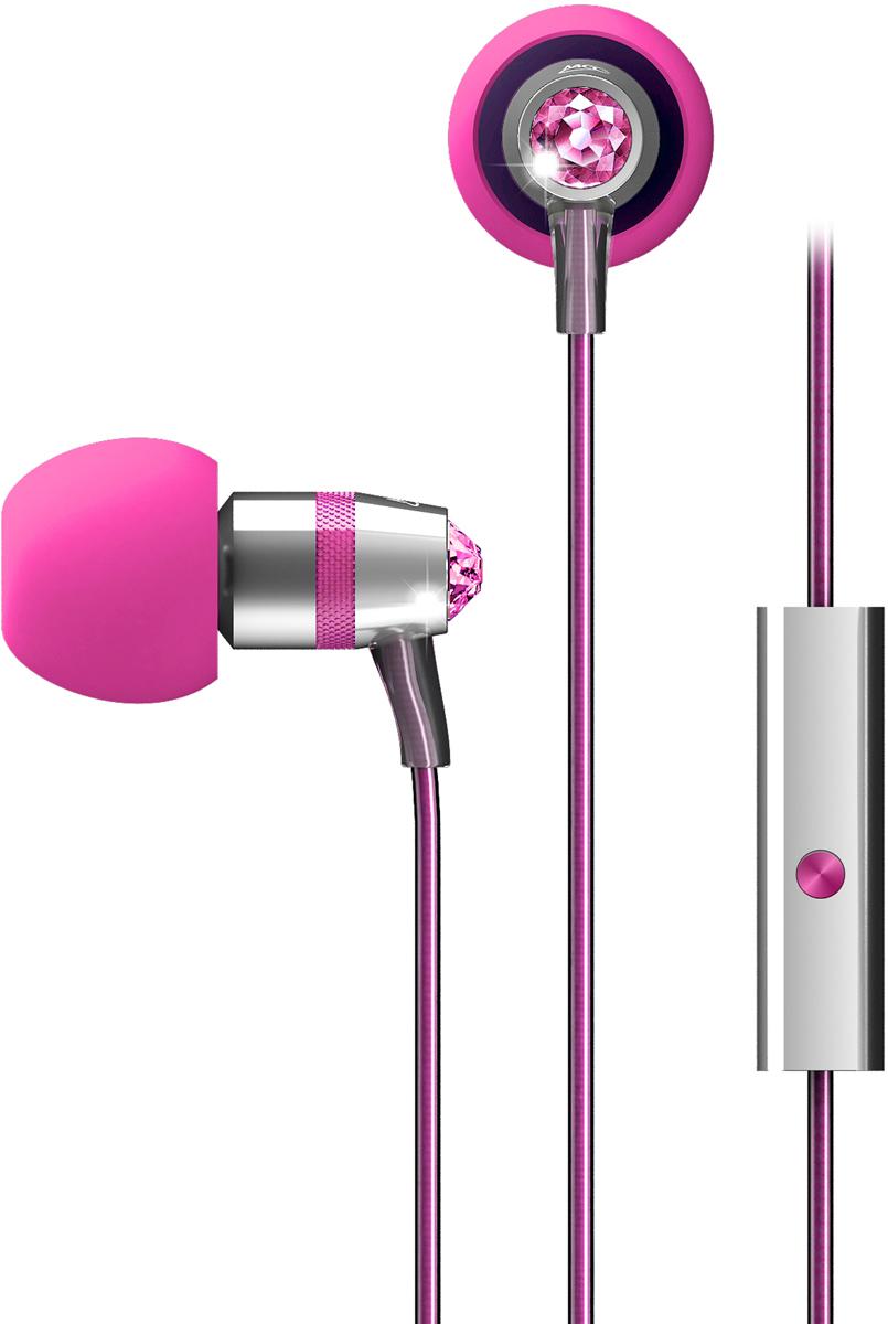 MEE Audiо Swarowski, Pink наушникиEP-M11J-PK-MEEMEE Audiо Swarowski - роскошные сияющие наушники, выполненные с использованием подлинных кристаллов Swarovski, которые являются нетолько отличным дополнением к коллекции аксессуаров любой законодательницы моды, но и обеспечивают впечатляющий звук высокойчеткости. Встроенный микрофон позволяет принимать и делать звонки, в то время как интегрированный пульт обеспечивает плавный медиа контроль,позволяя вам максимально использовать возможности вашего смартфона или планшета.